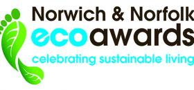 Norwich and Norfolk Eco awards logo strap cmyk
